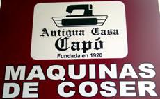 Antigua Casa Capo - Máquinas de Coser